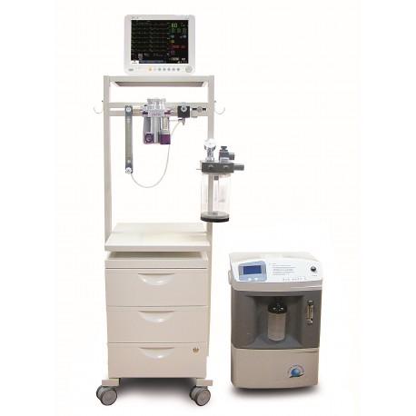 Equipo de anestesia con carro y cajones VETMAT